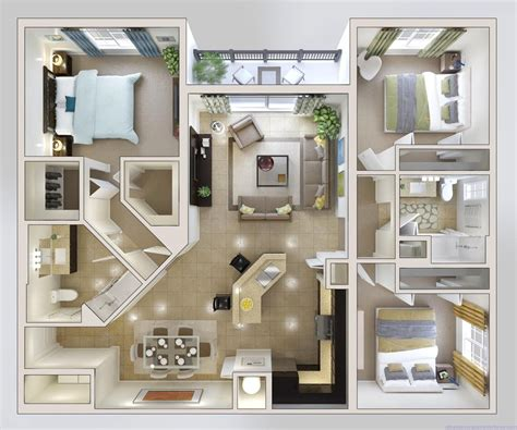 Photo Of Three Bedroom Homes Ideas by Simple One Story 3 Bedroom House Plans High Trees