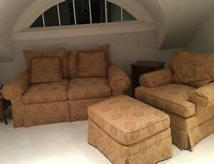Calico Corners Sofas by Calico Corners Custom Made Loveseat Chair And Ottoman Set