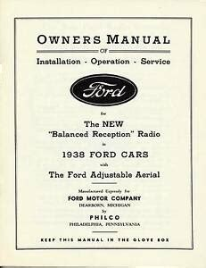oem  ford cars owners manual   balance reception