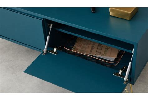 elona media unit teal brass absolute home