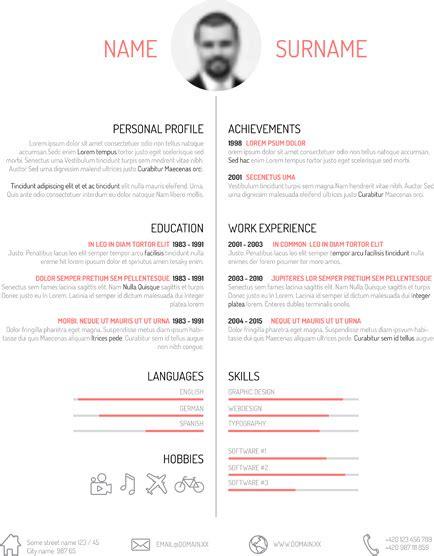graphic design resume  vector    vector