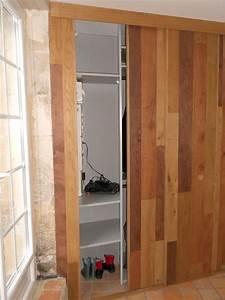 meuble dentree avec portes coulissantes en bardage With meuble pour entree de maison 2 meuble dentree avec portes coulissantes en bardage