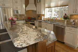white kitchen granite ideas enchanting kitchen island with bar top with waterfall granite countertop edge also white vinyl