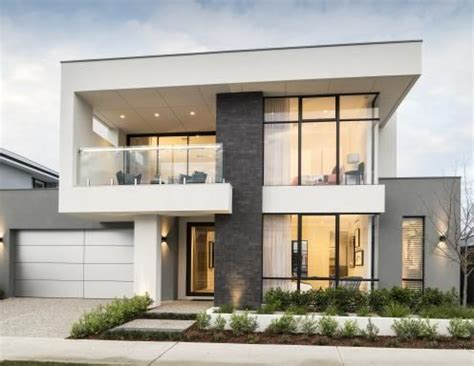 single  double storey home designs webb brown neaves modern exterior house designs