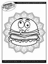 Coloring Cheeseburger Template sketch template