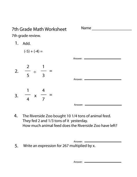 7th grade math worksheets algebra bostonusamap