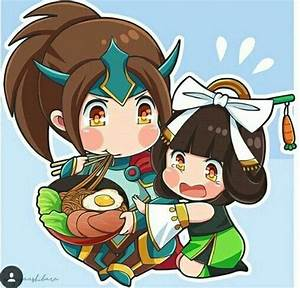 MobileLegend Zilong And Chang39e FanArtby Miyusa Ashibara