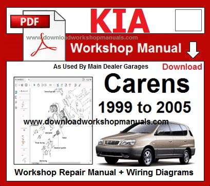 kia carens 1999 to 2005 workshop repair manual download workshop manuals com