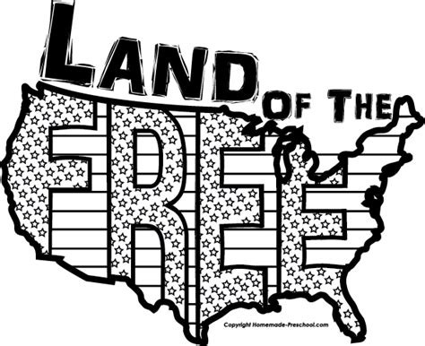 july black and white free july 4th clipart