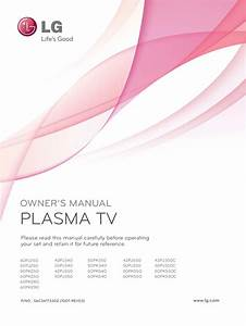 Download Free Pdf For Lg 50pj350 Tv Manual