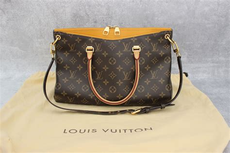 louis vuitton monogram canvas pallas bag safran imperial
