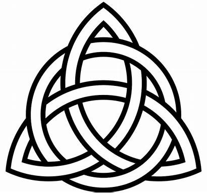 Celtic Tribal Knot Triangle Symbol Graphic Ornament