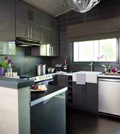 cocinas modernas pequenas diseno  decoracion