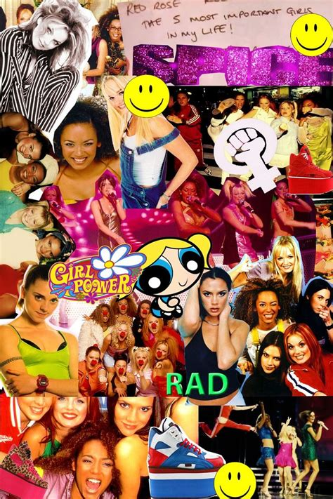 spice collage spice girls cute wallpapers aesthetic