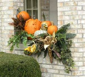 """Gorgeous fall display"" ""Fall window box arrangement"
