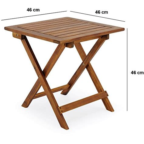 table basse pliante en bois tables jardin d appoint 46x46cm pliable acacia