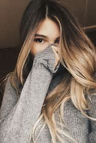 Girl with Brown and Blonde Ombre Hair