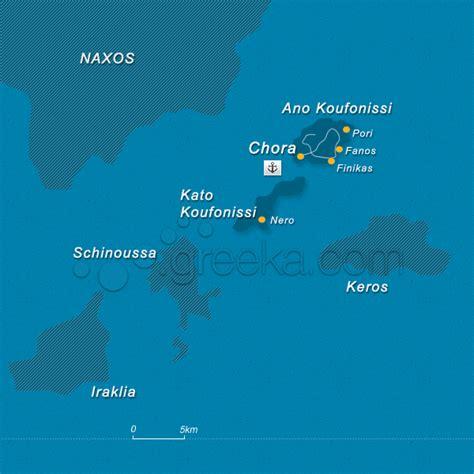 map of koufonisia island greece greeka com