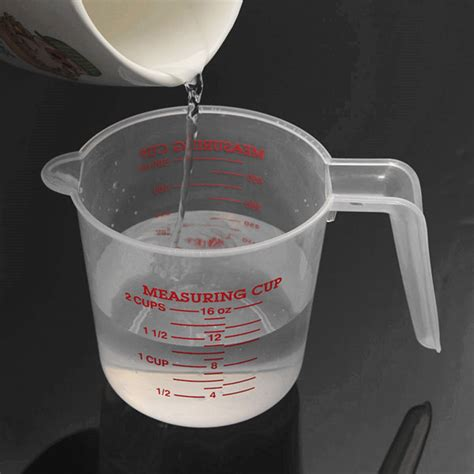 500ml to cups buy 500ml clear plastic measuring cup bazaargadgets
