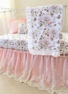 Blush, Pink, Farmhouse, Nursery-, Girls, Floral, Baby, Bedding
