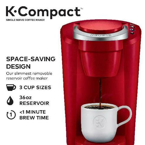 As a result, only the external water reservoir needs to be emptied prior to storing. Keurig® K-Compact Single Serve Coffee Maker Machine ...