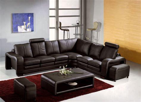 canapé d angle marron deco in canape d angle en cuir marron avec appuie