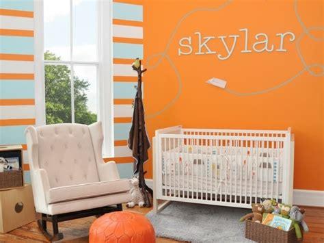 chambre orange la peinture chambre bébé 70 idées sympas