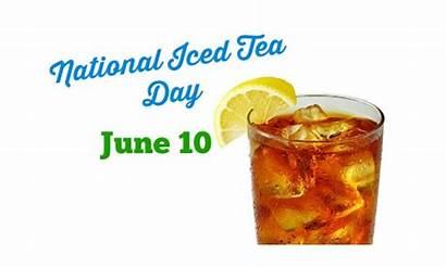Tea Iced Clipart National Holidays June Happy