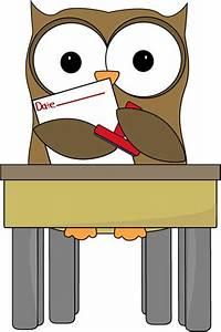 Owl Date Stamper Clip Art - Owl Date Stamper Vector Image