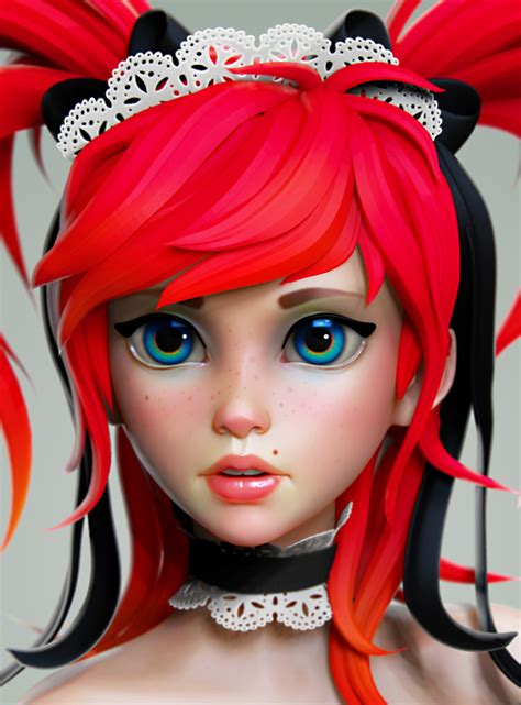 Artstation Anime Girl Olya Anufrieva