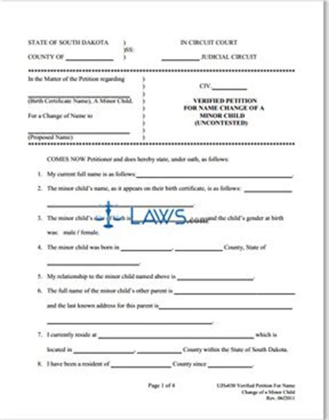 north carolina legal name change form form ujs 030 verified petition name change child south