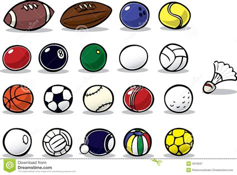 Cartoon Balls Stock Vector. Illustration Of Tennis