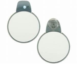 Miroir Lumineux Led : miroir ventouse lumineux led double face grossissante ~ Edinachiropracticcenter.com Idées de Décoration