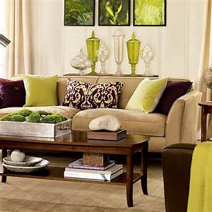 28 green and brown decoration ideas for Brown living room ideas