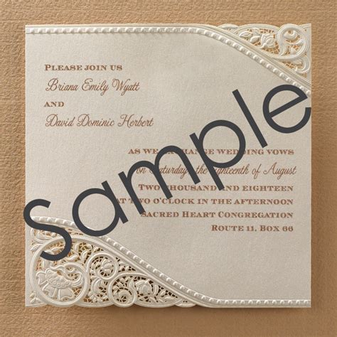 laser cut wedding invitations laser cut vintage lace wedding invitations sle