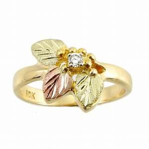 Landstrom's® 10K Black Hills Gold Ring With .05TW Diamond ...