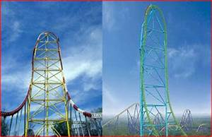 Thrill Ride Spot: Top Thrill Dragster vs. Kingda Ka