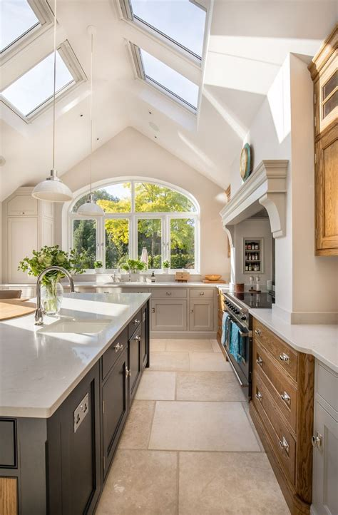 vaulted kitchen ceiling lighting stunning kitchen extension pitched roof vaulted 6754