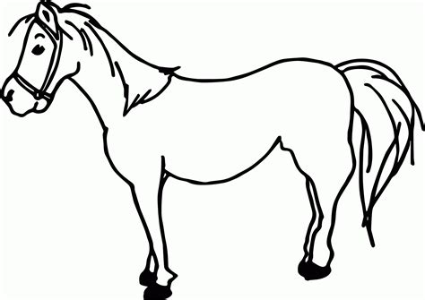 horses cartoon coloring page coloring home
