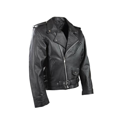 Cowhide Jackets by Mens Black Motorbike Motorcycle Perfecto Brando 100