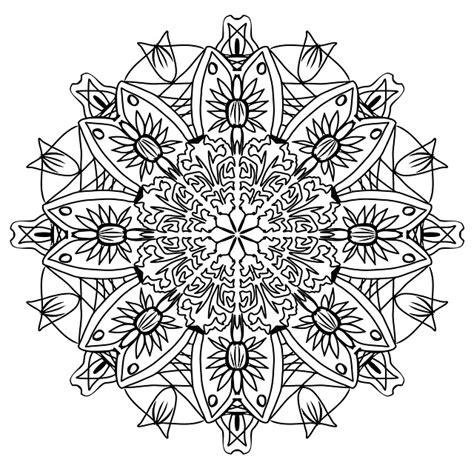 photo pencil pattern mandala drawing coloring page