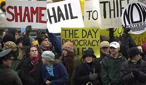 Presidential inaugurations routinely draw protesters, such ...