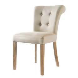 chaise vintage maison du monde chaise capitonnée en écru boudoir maisons du monde