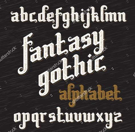 amazing gothic fonts ttf otf  design