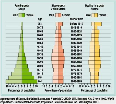 Age Structure Diagram by Environmental Science Predicting Population Changes Using