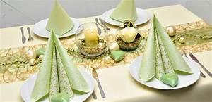 Tischdeko Shop De : elegante tischdekoration in gold und hellgr n zur goldenen hochzeit bei tischdeko ~ Watch28wear.com Haus und Dekorationen