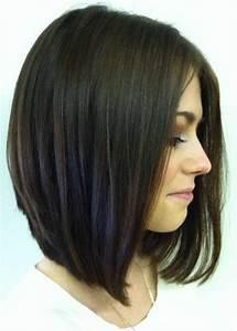 Coupe Cheveux Carré Mi Long : coupe femme carre plongeant mi long ~ Melissatoandfro.com Idées de Décoration