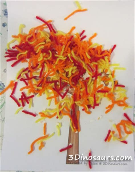 45 of the cutest fall crafts for how wee learn 595 | Fall crafts for kids yarn trees