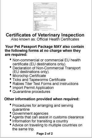 dominican republic pet passport health certificate