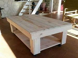 Faire Une Table Basse En Palette : recuperer des traverses bois pour creer table basse palette ~ Dode.kayakingforconservation.com Idées de Décoration